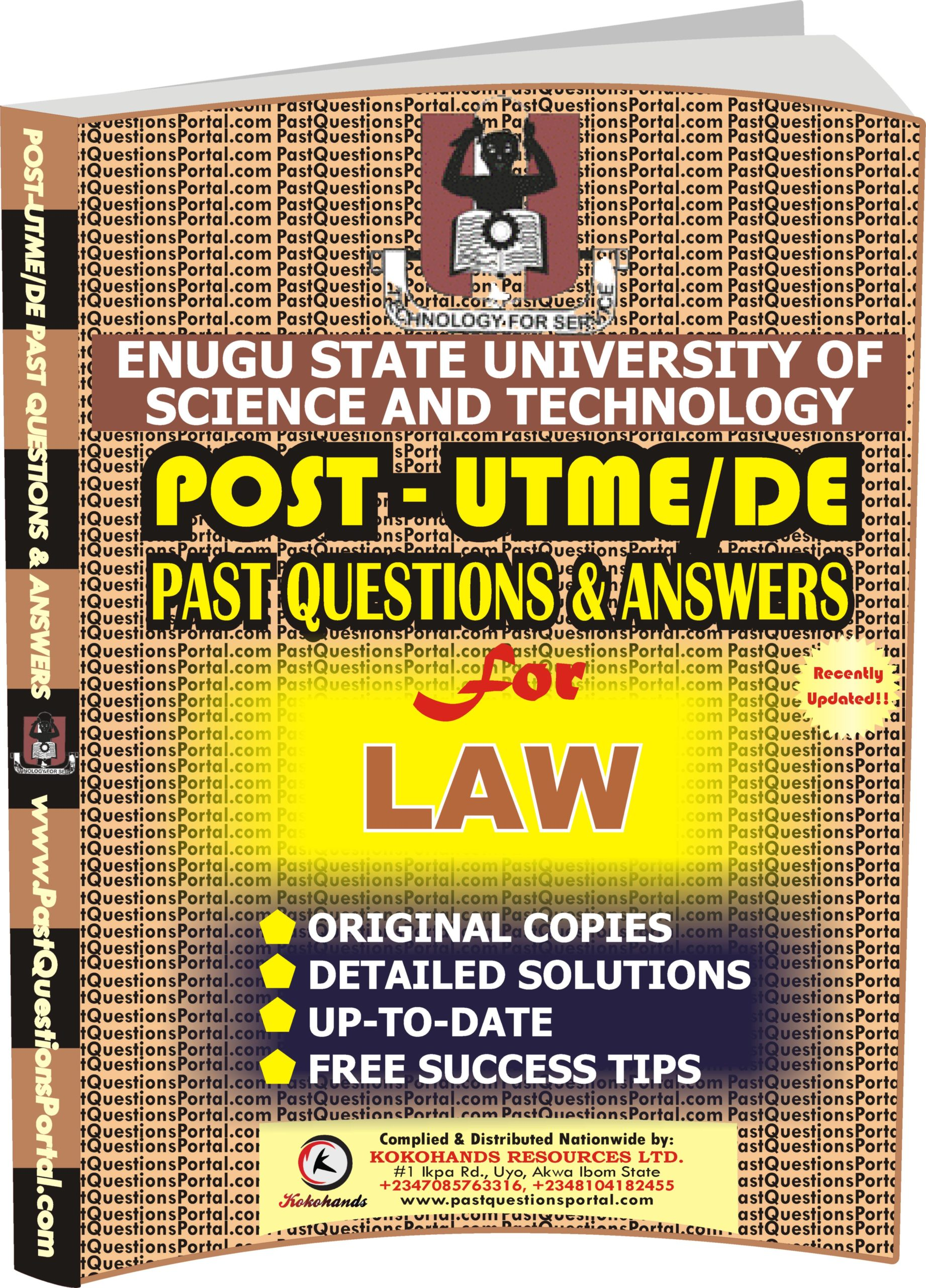 ESUT Post UTME Past Questions for LAW