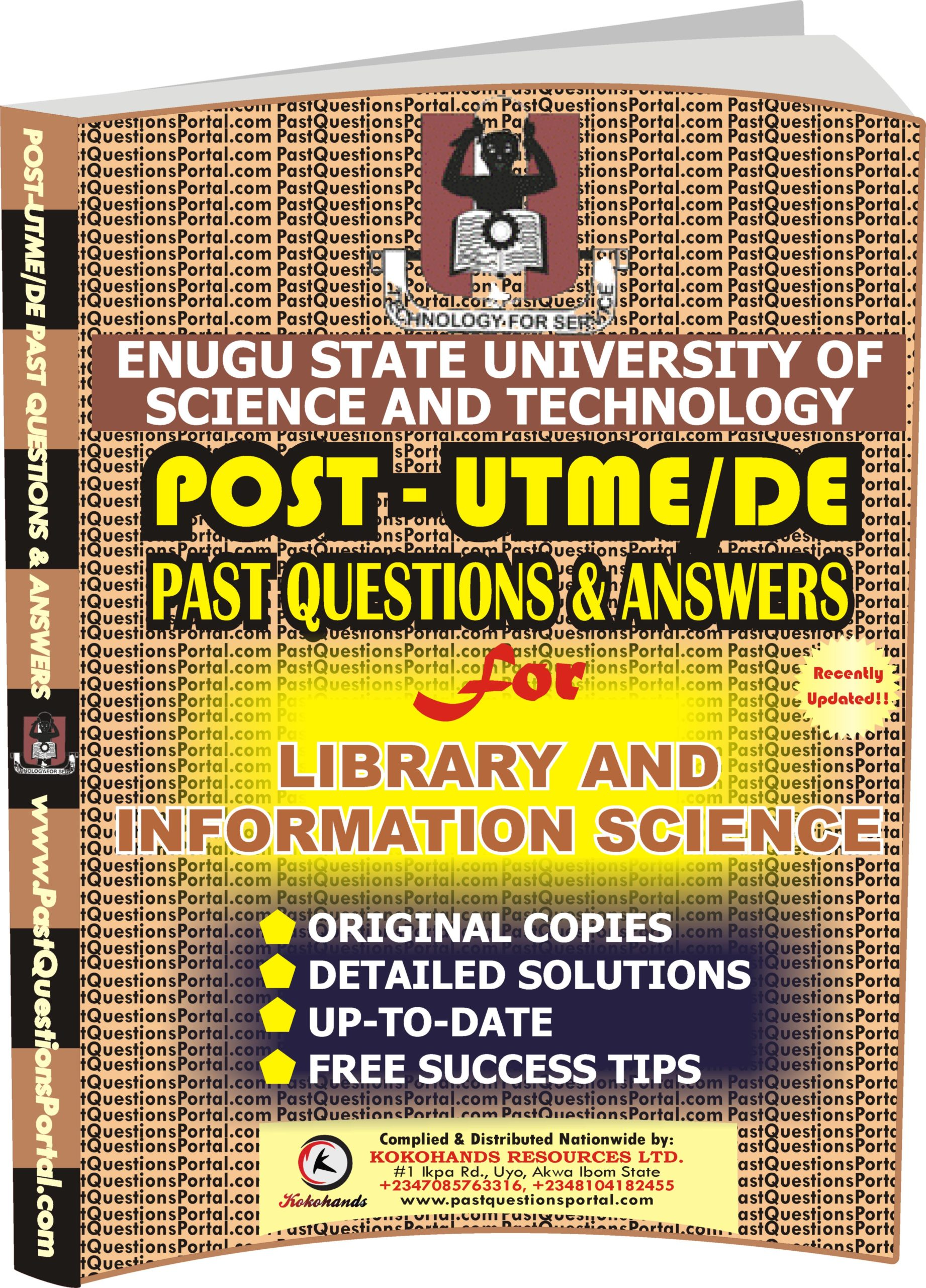 ESUT Post UTME Past Questions for Library and Information Science
