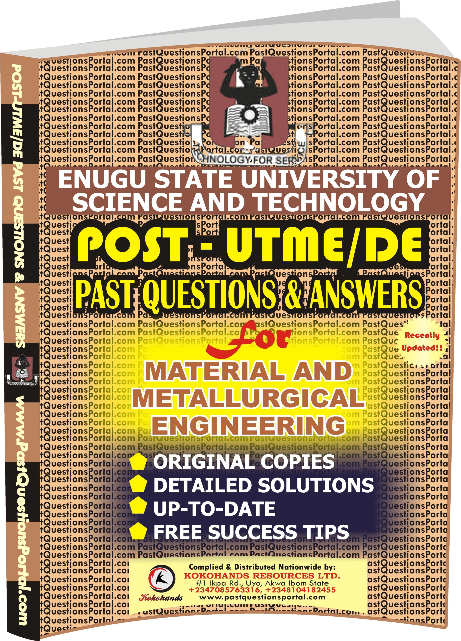 ESUT Post UTME Past Questions for Material and Metallurgical Engineering
