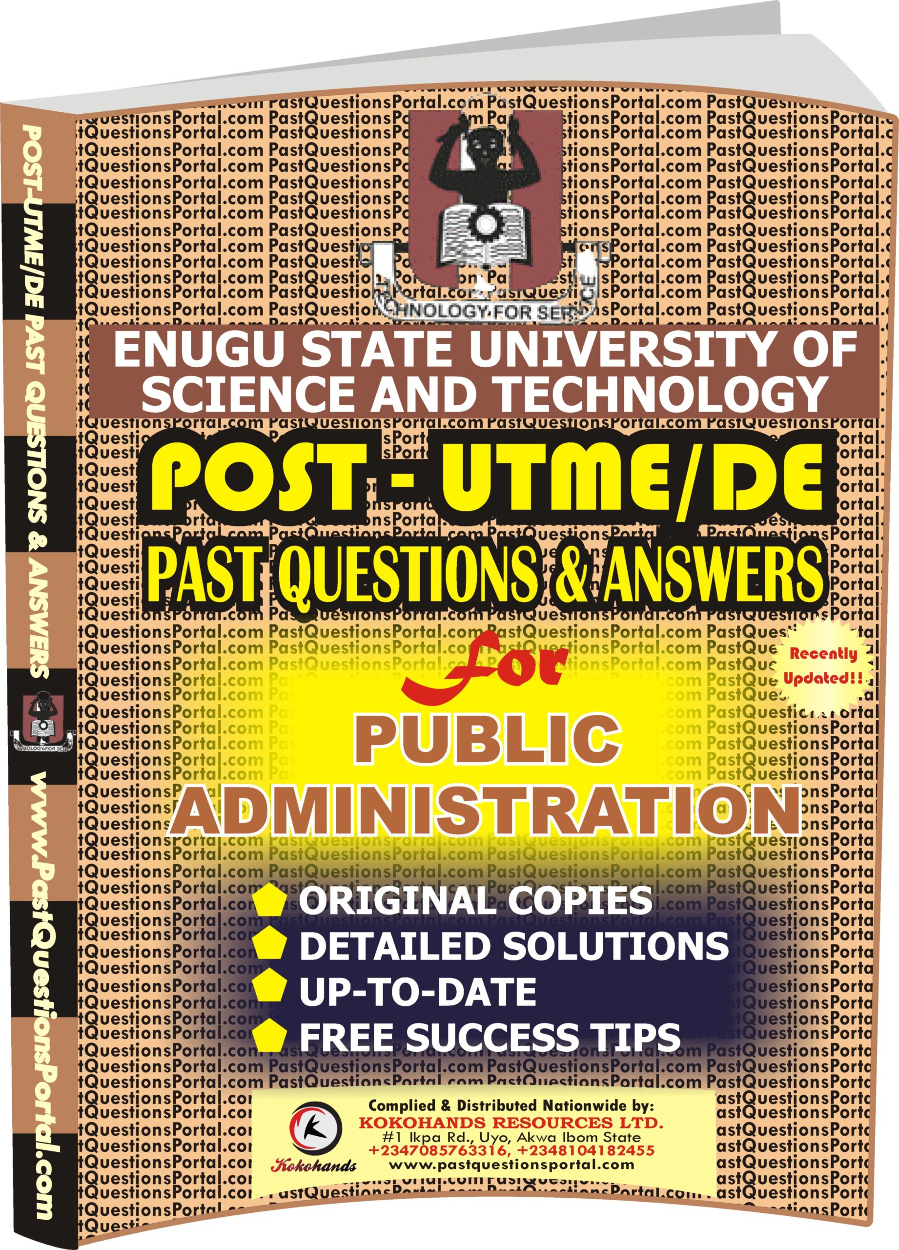 ESUT Post UTME Past Questions for Public Administration