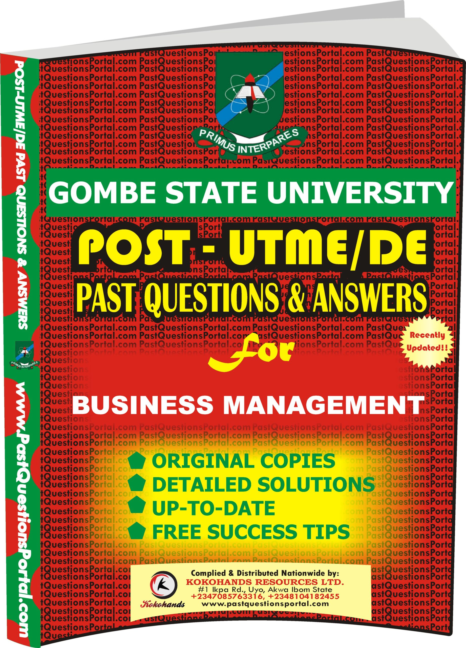 GSU Post UTME Past Questions for BUSINESS MANAGEMENT