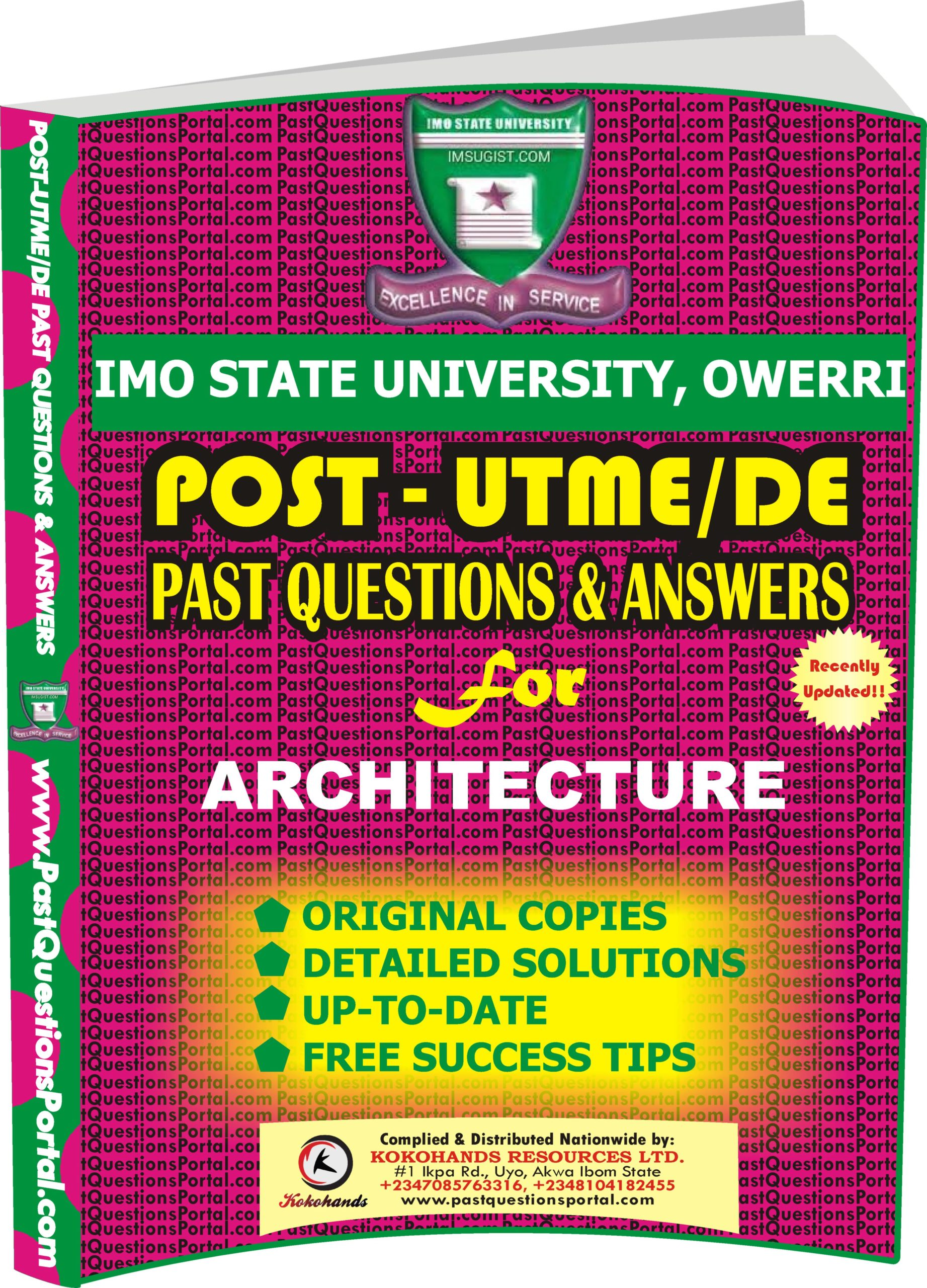 IMSU Post UTME Past Questions for ARCHITECTURE