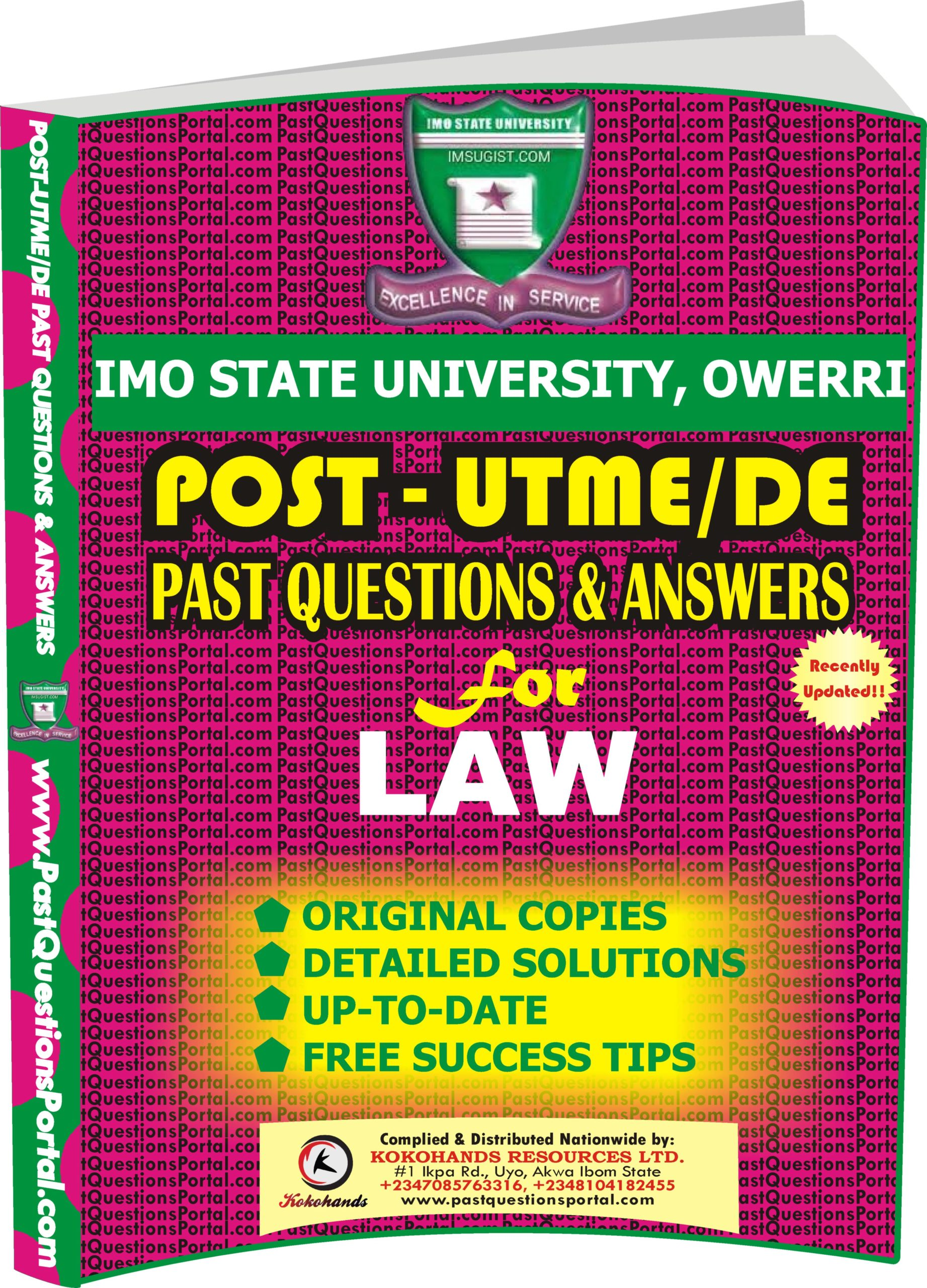 IMSU Post UTME Past Questions for LAW