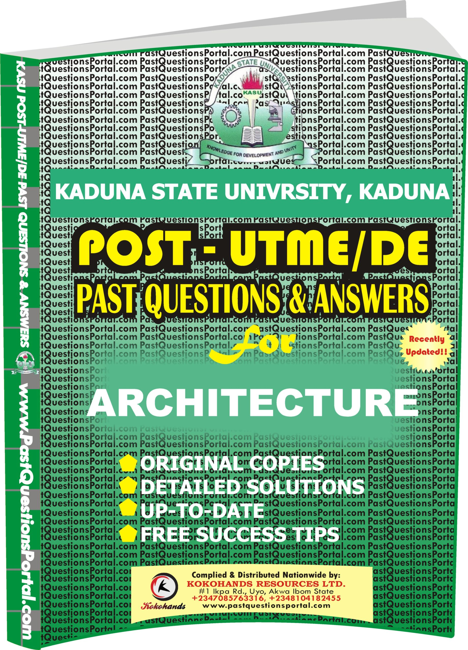 KASU Post UTME Past Questions for ARCHITECTURE
