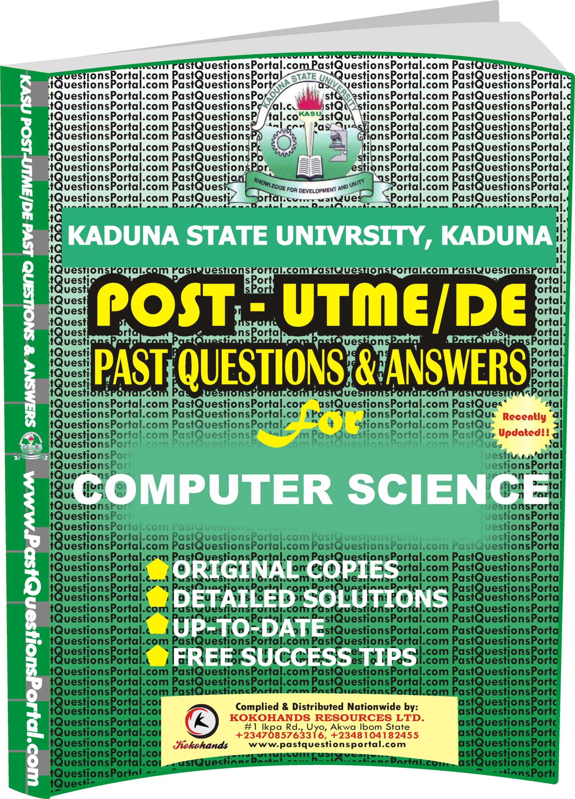 KASU Post UTME Past Questions for COMPUTER SCIENCE