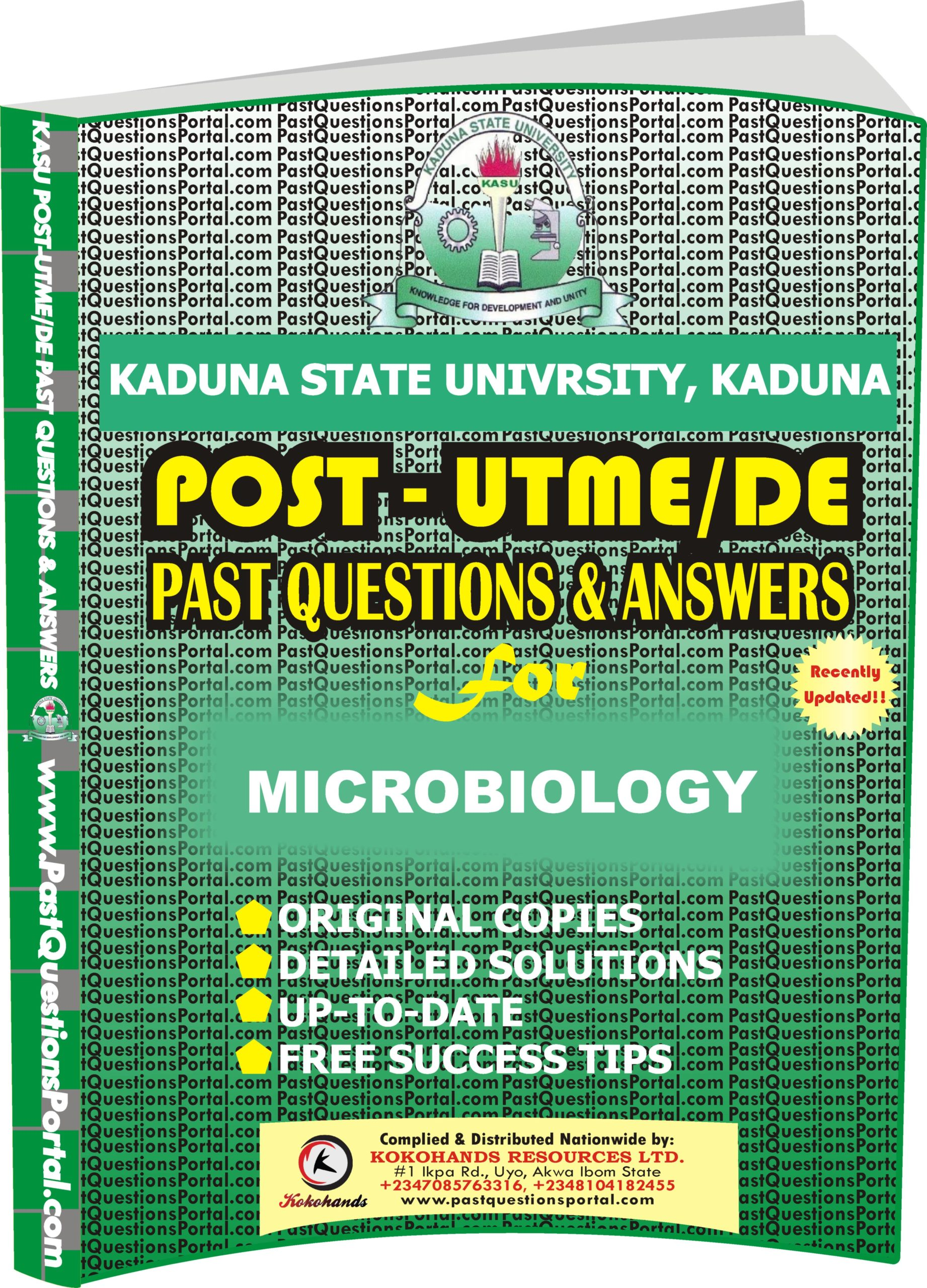 KASU Post UTME Past Questions for MICROBIOLOGY