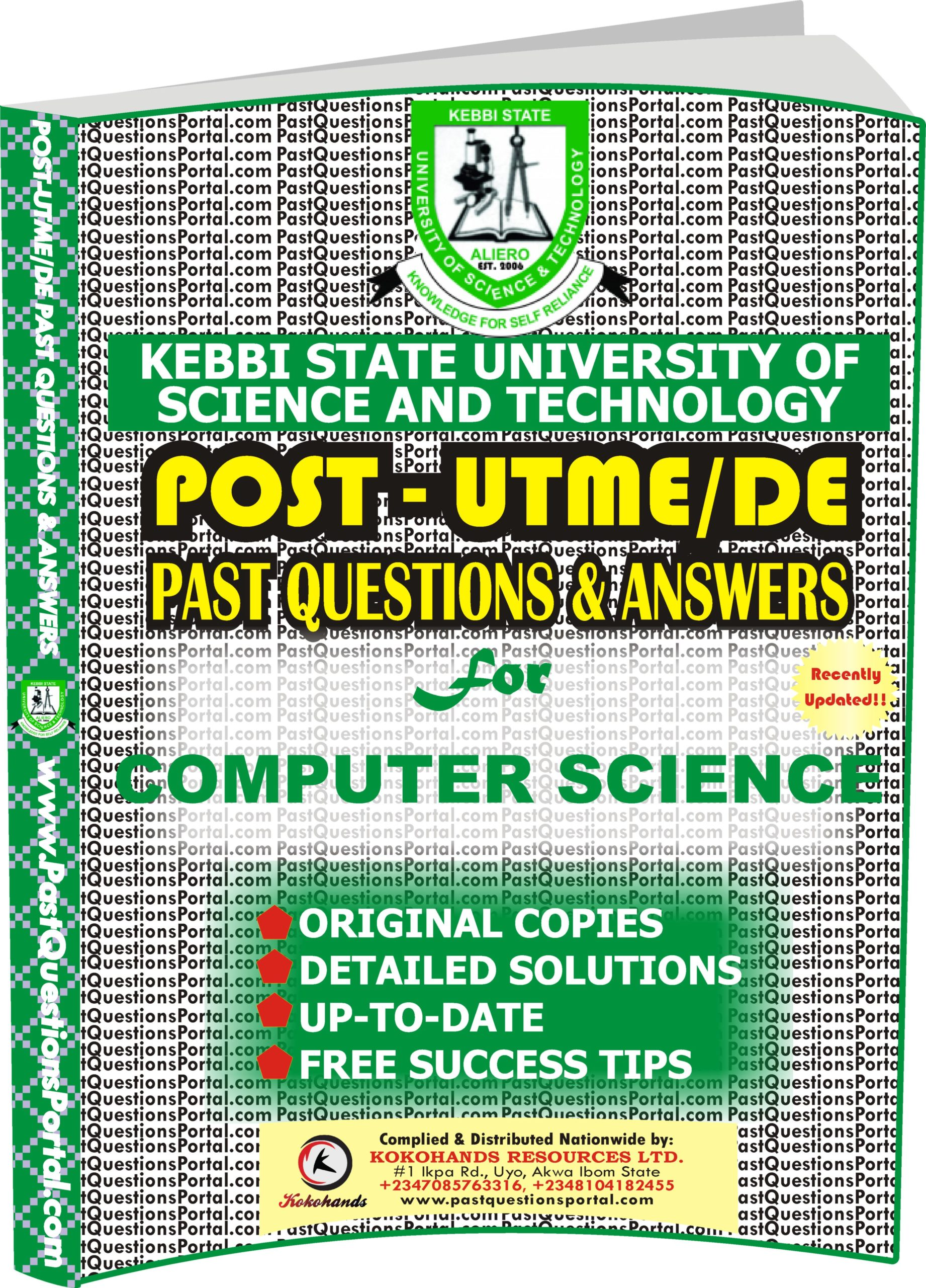 KSUSTA Post UTME Past Questions for COMPUTER SCIENCE