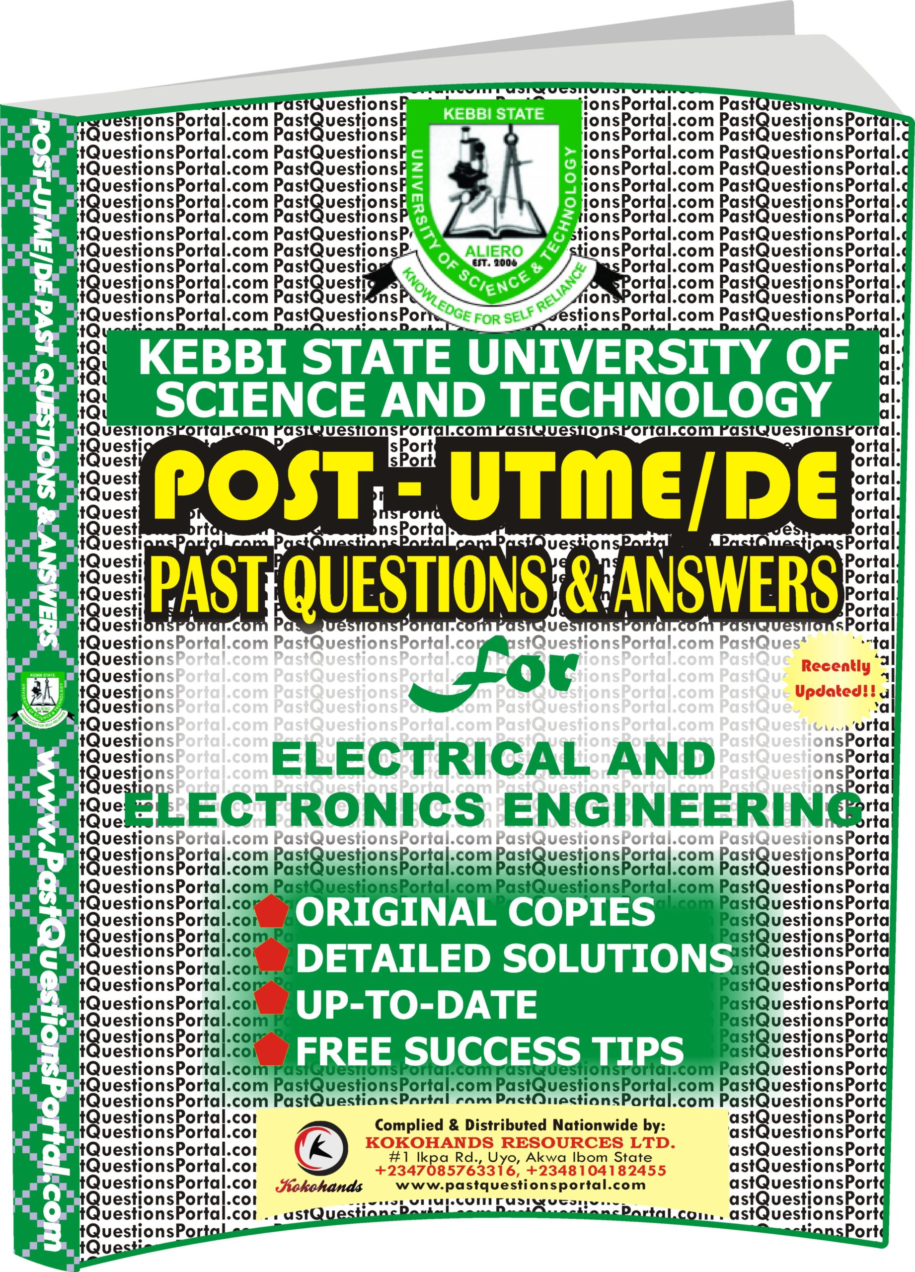 KSUSTA Post UTME Past Questions for Electrical and Electronics Engineering